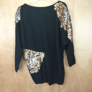 LE CHOIS vintage angora blend sweater